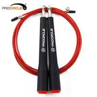 jump ropes rolamentos venda por atacado-PROCIRCLE Speed Jump Rope - Ajustável 10ft - Skipping Ropes Melhor para Fitness Boxe MMA Training Rolamentos de Esferas de Metal Preto