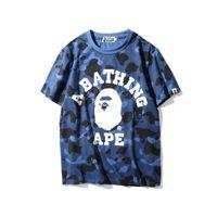 Wholesale Army Camo Print - Men Short Sleeve T Shirt Summer Brand Camo Print Tees Homme Brand T-Shirt Clothing Kanye West T-Shirts Sizes S-2XL