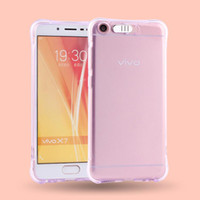 Wholesale vivo transparent phone resale online - For VIVO X9S X9S X20 Plus Shockproof Soft Rear Cover Case TPU Frame Flash Up Light Incoming Call LED Phone Cover