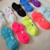 Wholesale football candy - Adults Children Boat Socks Anklet Candy Color Sports Cotton Short Socks Football Cheerleaders Short Slippers Ship Sock Underwear POP