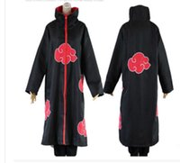Wholesale cosplay anime naruto hot online - Hot Sale Anime Naruto Akatsuki Uchiha Itachi Cosplay Halloween Christmas Party Costume Cloak Cape