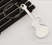 llavero personalizado logo al por mayor-Soporte OEM ODM LOGO Promoción personalizada Regalo de negocios Guitarra clásica Llavero Bolsa de coche Llavero Llavero Colgante Accesorios de joyería H845R