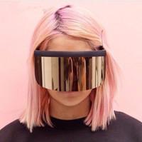 Wholesale Square Mask - HOT Large mask sunglasses sunscreen anti-peep mask eye mask artifact UV400 new sunglasses 9 color optional