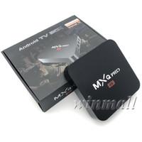 android media player mini pc al por mayor-MXQ Pro 4K TV Box Android 7.1 Amlgoic S905W TV Box HD Smart Mini PC 1G + 8G / 2GB + 16GB Wifi H.265 Smart Media Player