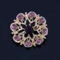 Wholesale assorted brooches resale online - Factory Direct Sale Assorted Designs Crystal Small Cute Flower Bejeweled Brooch Pins for Women or Wedding Bouquets DIY Pins