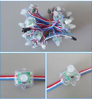 points d'éclairage achat en gros de-Le module polychrome DC5V IP68 de pixel de la place RVB LED de 12mm LED imperméable s'allume pour la publicité
