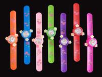 dijital tokluk saatler toptan satış-Çocuk İzle Dijital Tokat İzle Çocuklar için Sevimli Renkli Çiçek Tokat Saatler Flap Yüzük İzle Bebek Kız Erkek Hediye için Oyuncak