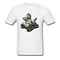 ingrosso corti di polizia-Cool Dominion Tank Police Cartoon T-shirt in cotone bianco Uomo T-Shirt manica corta stile semplice gruppo personalizzato Uniformi