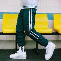 Wholesale Design Dance Pants - Men's Casual Pants Fashion Design Side Stripe Elastic Waist Joggers Pants Hip Hop Dancing High Street Wear Trousers