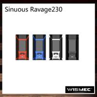 Wholesale button clocks resale online - Wismec Sinuous Ravage230 W TC Box MOD inch OLED Display Real Time Clock Quad button Design Original