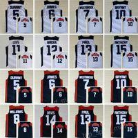 endurecer jersey al por mayor-Equipo de ensueño de la camiseta de baloncesto 2012 Kevin Durant LeBron James Harden 10 Kobe Bryant Chris Paul Kevin Amor Anthony Williams Westbrook Davis