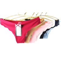 ingrosso una mutandine di stringhe-Pack of 36 Low Rise Ultra Thin Sexy Mutandine Lady One Piece Seamless Women G-String Underpants Intimo donna T-back Lingerie