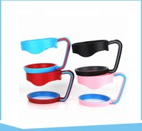 Wholesale anti steel - Anti-slip Plastic Cup Handle Cup Holders Stainless Steel Insulated Tumbler Mug Handle Plastic Hander for 9 color KKA4259