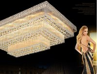 Wholesale noble mount - LED ceiling chandeliers factory prices luxury noble gorgeous high end K9 crystal chandelier hotel hall stairs villa led chandeliers lights