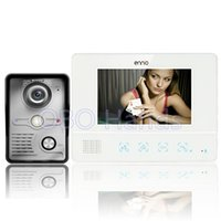 Wholesale Color Video Door Phone System - Free shipping 7'' wired color video door phone Intercom system video doorbell 1 CMOS Night Version Camera+1 monitor 811MKW11