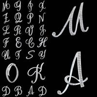 ingrosso spille di personalità-A-Z Crystal Letter Design Spille alfabeto Spille Personalità Spille inglese lettera Strass Lettera alfabetica Spilla Regali creativi