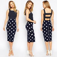 Wholesale Women Office Suits Designs - Luxury Design Office Ladies Suits Summer Polka Dot Printed Contrast Color Female Suits Women Fashion Work Dresses for Office Commuting