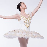 Wholesale fast shipping tutus resale online - DHL Fast shipping Adult Classical ballet Tutu Professional Pancake Ballet With Flower Fairy Ballet Tutu Costume Dancewear