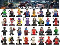 building blocks toys toptan satış-Avengers süper kahraman mini rakamlar çocuklar köşe yapımları blokları Batman Logan Thor superman Hulk Yapı Taşları Setleri Çocuklar oyuncak Tuğla hediyeler