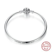 bracelets uniques en argent sterling achat en gros de-100% 925 Sterling Silver Engrave flocon de neige fermoir Unique en tant que vous êtes chaîne de serpent Bracelet Bracelet bricolage charme bijoux