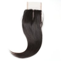 Wholesale hair human straight 1pc for sale - Group buy 10A Brazilian Virgin Straight Hair Lace Closure PC Unprocessed Brazilian Peruvian Indian Malaysian Virgin Human Hair Closure