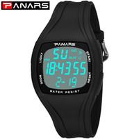 cronômetro de 24 horas venda por atacado-PANARS Mens Sport Watch Relógio de Pulso À Prova D 'Água de Natação 12/24 Horas Homens Aptidão Relógios Digitais Alarm Timer Relógio Relogios 8112