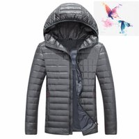 Wholesale Mens Down Winter Parkas - 2018. nortH High Quality New Winter men's Down puffer jacket Casual Brand Hoodies Down Parkas Warm Ski Mens FACE Coats 668
