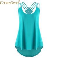 ingrosso camicie calde backless-Vendita calda Donna Bandage sciolto Backless Shirt Strappy Canotta 80720