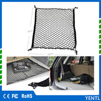 Wholesale luggage truck - Free shipping Car accessories Car Truck Rear Cargo Net Storage Bag Luggage Organizer Hook Pouch nylon Fit For unversal For Skoda Audi SUV