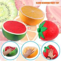Wholesale plants orange online - PU Orange Watermelon jumbo squishy Slow Rising toy CM Cartoon squeeze toys Kids fun Soft Decompression Toy GGA911