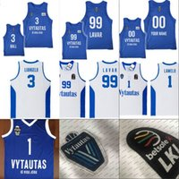 jersey de poliéster de ajuste seco al por mayor-Hombres NCAA Lituania Prienu Vytautas Baloncesto Camiseta 1 Lamelo Ball 3 Liangelo Ball Uniforme 99 Lavar Ball 100% Stitched Basketball Jerseys