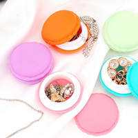 Wholesale macaron storage boxes - 1Pc 4*4*2CM Candy Jewelry Storage Box Mini Macaron Case for Necklace Earring Package Organizer Gifts For Girls Table Decoration