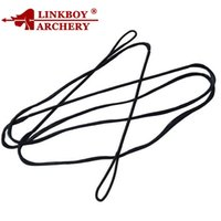 Wholesale bows for arrows resale online - Linkboy Archery Archery Bow Strings Black for Recurve Bow Longbow Hunting Shooting for Bow Accessories