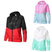 sportswear actif pour les femmes achat en gros de-Designer Vestes Femmes Sportswear Manteau Zipper Lettre Imprimer Marque Pardessus De Mode Active Hoodies M-2XL Retour Vert Rose