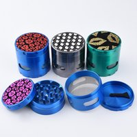 Wholesale manual window - 4 Parts Grinder Aluminum Alloy Manual Grinder Herb With 54mm Height with Transparent Window Diamond Blade Sharp Smooth