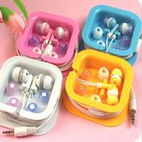 Wholesale earphone free fedex resale online - 100pcs mm In ear headphones earphone earbud headset headphone for PC Laptop MP3 MP4 DHL FEDEX free DY