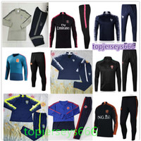 Wholesale Tracksuits Men Soccer - France Spain Brasil Portugal Colombia Tracksuit 2018 World Cup soccer Tracksuit NEYMAR JR MBAPPE RONALDO football jacket Training suit