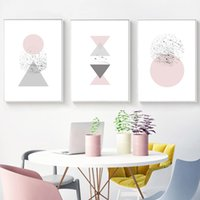Wholesale geometry pictures - Geometry Wall Art Canvas Abstract Painting Minimalist Abstract Posters and Prints Nordid Decoration Pictures Modern Home Decor