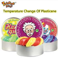 Wholesale gum toys resale online - Intelligent Creative Hand Gum Temperature Change Turns Color Slime Silly plasticine Mud kids toy gift KKA5727