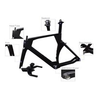 Wholesale time trial bikes resale online - Full carbon fiber tt frame Popular selling K BB86 carbon time trial frame S M L triathlon carbon bicycle frame