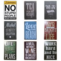 Wholesale Poster Panel - Retro Words Theme Style Tin Poster Unique Design Tins Sign For Home Bedroom Bar Multi Place Hang Iron Painting Top Quality 20*30cm Z