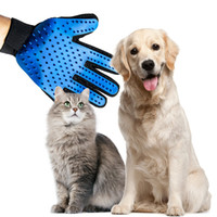 Wholesale massage hair gloves online - Silicone pet Brush Glove Pet Grooming Hair Cleaning Massage Glove Pet Dog Supplies Cat Dog Hair Cleaning Brush Comb A01