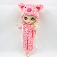 Wholesale Wholesale Factory Dresses - Fortune Days Blyth doll Colorful fur sleeping clothes for the 12 inch doll joint body cute dressing Factory Blyth