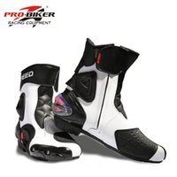 Wholesale high speed motorcycle - PRO-BIKER SPEED Ankle Joint Protection Motorcycle Boots Moto Shoes For Motorcycle Riding Racing Motocross Boots BLACK RED WHITE