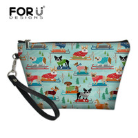 собаки косметические оптовых-FORUDESIGNS Sledding Dogs Printed Travel Cosmetic Bag Organizer Women Necessaire Cosmetic Bag Portable  Bag Toiletry Kits