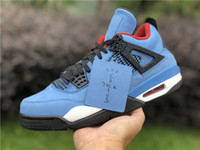 Wholesale x men 13 for sale - Group buy Top quality Travis Scotts X Houston Oiler Men basketball shoes s Sports Shoes Sneakers Blue Suede PJ Tucker Trainers With Box