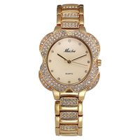 45b033225a35 Flower Womens Watches Women Fashion Watch Golden Clock Charms Diamond Gold Quartz  Watch Relogio Feminino Dourado