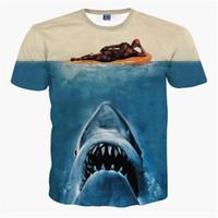 dibujos para niños al por mayor-2018 New Fashion Designer Camiseta para hombre Deadpool Camisetas Mujeres Summer 3D Camiseta Tee American Comic Badass Deadpool Camiseta Camisetas Tops