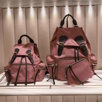 i̇ngiliz stili çanta toptan satış-2018 yeni Avrupa ve Amerikan İngiliz tarzı naylon Oxford çift omuz çantası kanvas çanta ile kadınlar için bir sırt çantası küçük moda çanta