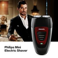 mini jilet bıçakları toptan satış-Erkekler için Philips Mini Elektrikli Tıraş Makinesi Şarj Edilebilir Twin Blades Jilet Tıraş Makinesi Akülü Elektrikli Epilatör Sakal Düzeltici 220 V